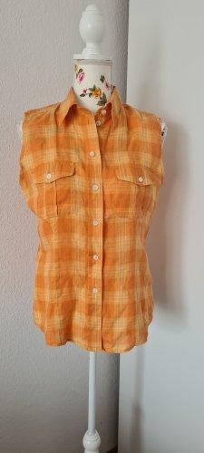 Hirsch Blouse en lin orange-orange doré lin