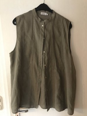 OVS Linen Blouse khaki-green grey linen