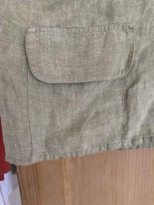 Hopsack Linen Blouse sage green