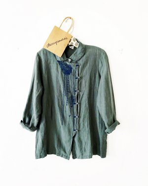 Anthropologie Linnen blouse cadet blauw