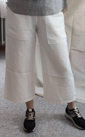 Pantalone culotte bianco sporco-bianco Lino