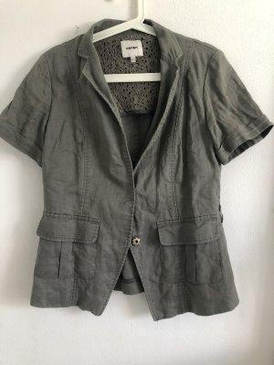 Koton Short Sleeve Shirt ocher-green grey
