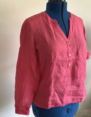 Brookshire Shirt Blouse pink-white linen