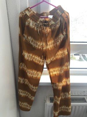 H&M Pantalon en lin beige-cognac