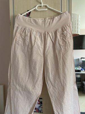 0039 Italy Pantalon en lin rosé