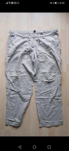 H&M Pantalon en lin crème-beige clair
