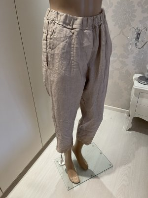 Made in Italy Pantalon en lin beige clair
