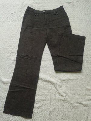 Leinen Hose * H&M * grau-schwarz * 34-36