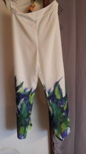 Heine Pantalone di lino multicolore