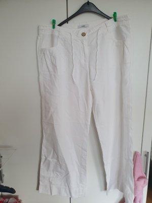 George. Pantalón de lino blanco