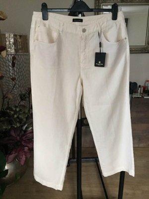 Massimo Dutti Linen Pants cream linen