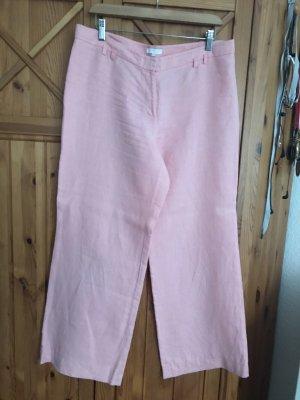 Pantalón de lino rosa-rosa claro