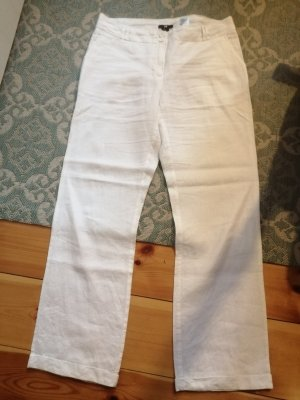 Hennes Collection by H&M Linen Pants white linen