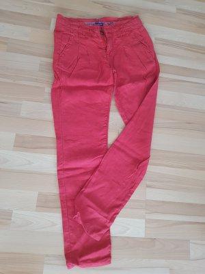 Mexx Lniane spodnie czerwony