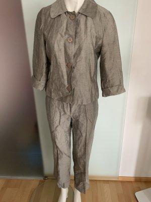 Leinen Hosen Anzug Blazer und Hose Gr 36 S von Taifun