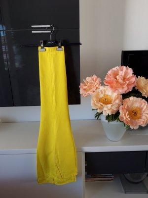 Marc Cain Pantalon en lin jaune
