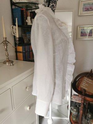 Duca Deia Ruffled Blouse white