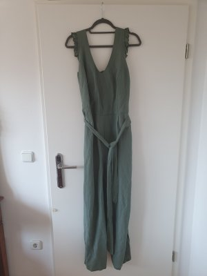 Yessica Jumpsuit sage green-khaki linen
