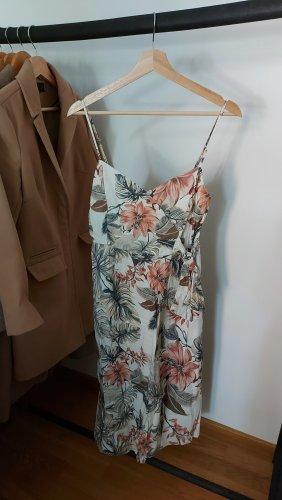 Leinen Kleid mit Blumenmuster