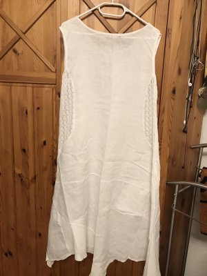 Leinen Kleid mit Strickerei