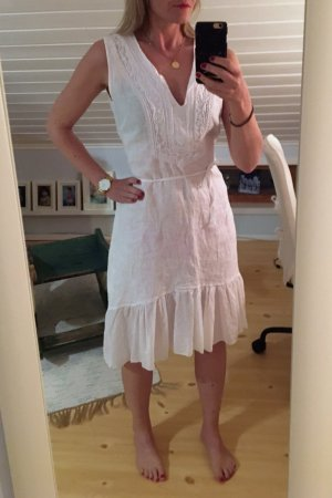 Vestido Hippie blanco Lino