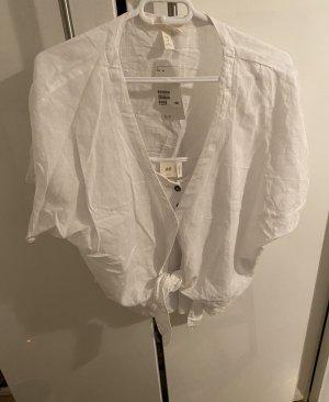 H&M Blouse en lin blanc
