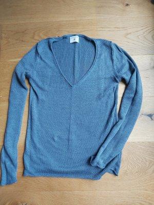 Leinen Pullover - blau