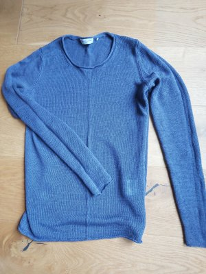 Leinen Pullover - dunkelblau