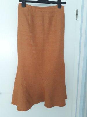 Linen Skirt dark orange linen