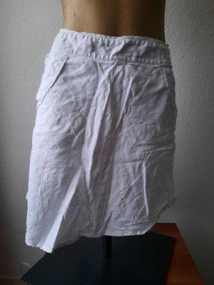 H&M Lniana spódnica biały-w kolorze białej wełny