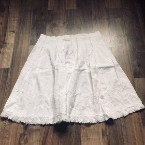 Boss Orange Linen Skirt white