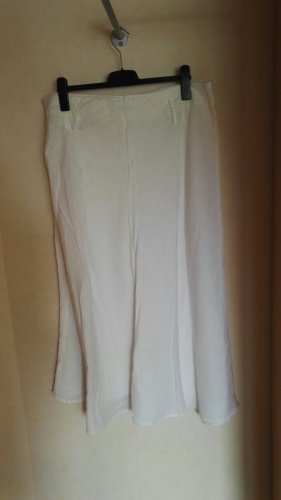 C&A Yessica Lniana spódnica biały Len