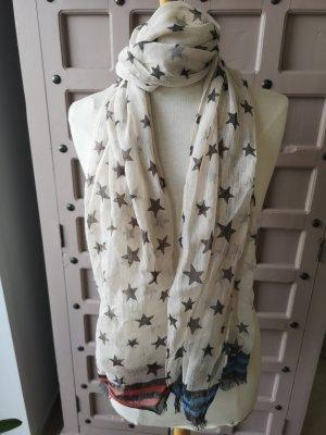 Leinen Schal Sterne Sternchen