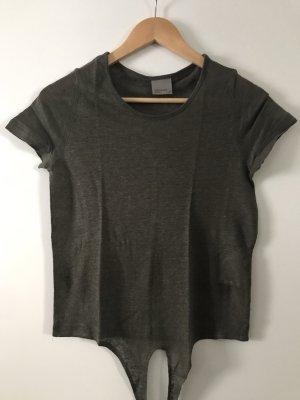 Leinen Shirt Khaki zum Knoten Gr. XS