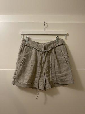Stefanel Lniane spodnie jasnoszary