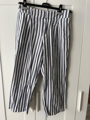 Zara Pantalone culotte bianco-blu