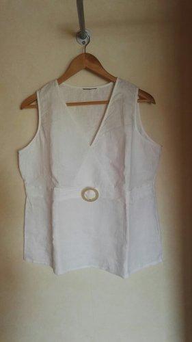 C&A Yessica V-Neck Shirt white linen