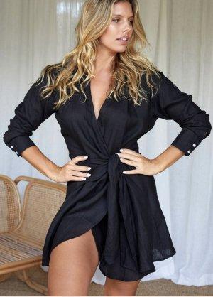 Monday Swimwear Vestido cruzado negro