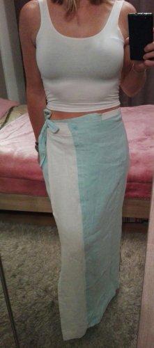 Falda cruzada blanco-turquesa