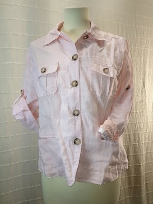 Blazer en jean rose clair-rosé