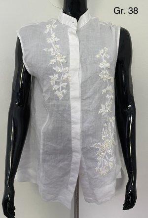 Blusa de lino blanco