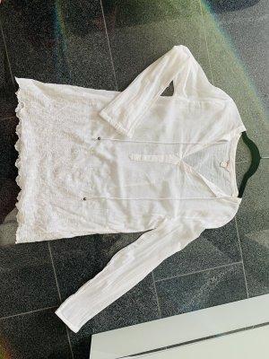 Esprit Blusa de lino blanco