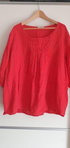 Moonshine Fashion Blusa de lino rojo ladrillo