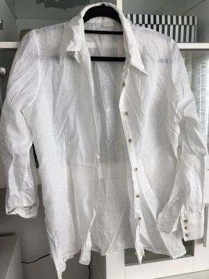 Promod Blusa in lino bianco