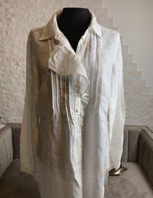 Tandem Blusa in lino bianco sporco