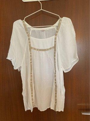 Esprit Linnen blouse wolwit-beige