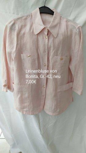 Bonita Blusa in lino rosa chiaro