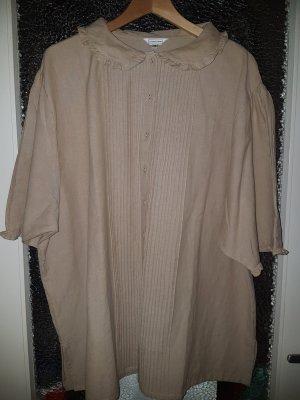 Vintage Blusa in lino beige