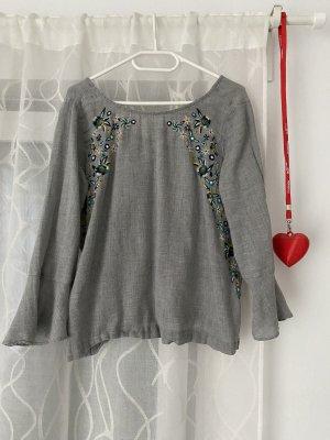 Promod Linen Blouse grey