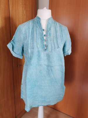 aus Italien Linen Blouse light blue